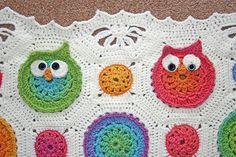 Owl Obsession Baby Blanket $6 pattern located here: http://www.ravelry.com/patterns/library/owl-obsession