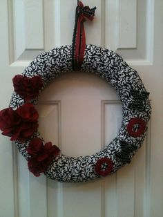 X O Valentine Wreath by PolkadotsOriginals on Etsy, $35.00