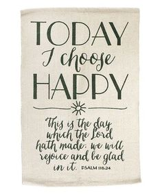 Look what I found on #zulily! 'Today I Choose Happy' Rug #zulilyfinds