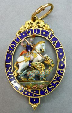 Badge of The Order of the Garter, 1775-1800, 86 x 55mm. Obv.
