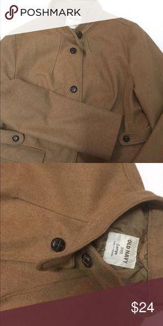 Old Navy Large Tan Coat Great waist length coat. Gorgeous wool camel color jacket. Old Navy Jackets & Coats