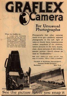 Kodak's Graflex cameras – Graflex Camera for Unusual Photographs (1918)