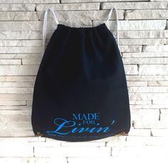 EcoBag - Made for Livin' Drawstring Backpack, Trending Outfits, Unique Jewelry, Bags, Etsy, Clothes, Vintage, Design, Products