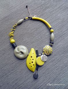 Cernit. Grey bead inspired by Dan Cormier | by Ольга Леднева