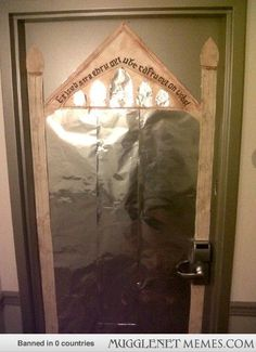 OMG stop. i love it. if you like lotr you could also turn your door into the gate into the mines of moria
