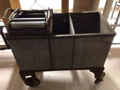 Industrial Commercial Decor Antique Washing Machine Basin Williamsburg Brooklyn | eBay- Convert to a cooler for cold drinks in the coffee bar