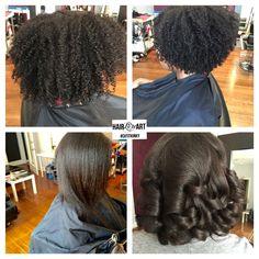 Deva Cut/Amplified Curl Cut transformed into a Silk Press.