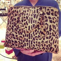 Nothing like a leopard Prada bag.