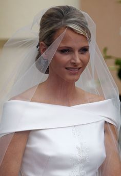 Low Chignon with Veil | Another Royal Wedding - Prince Albert of Monaco & Charlene Wittstock ...