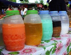 Different filipino Juices! So Delish!