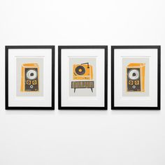 Hey, I found this really awesome Etsy listing at https://www.etsy.com/listing/243211780/vinyl-record-deck-set-of-3-fathers-day