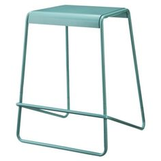 """$47.99 Target TOO by Blu Dot Plop  Stool - Blue      Features: Backless, Armless      Frame Material: Steel      Care and Cleaning: Dry Dust      Dimensions: 24.0 """" H x 18.5 """" W x 18.5 """" D  Weight: 10.0 Lb."""