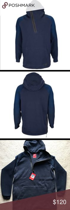 3ac6014e2c61 Nike Tech Fleece Knit Dynamic Hoodie - Medium Funnel hood covers the lower  face for additional