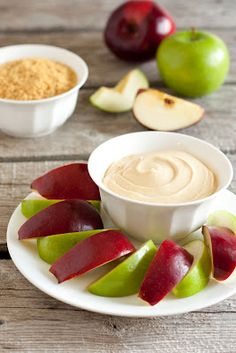 Healthy Dip Alternative - Caramel Cheesecake Apple Dip (3 Ingredient 3 Minute Recipe).  16 oz. cream cheese, 1 c caramel ice cream topping. Whip these two together then serve with sliced apples and a store bought graham cracker pie crust, crumbled.  How easy is that!