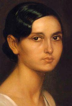 romero de torres paintings | Ángeles, Oil by Julio Romero De Torres (1874-1930, Spain)