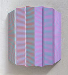 """18/14,  """" MSE XXII """" , 80x70x7cm, Relief: Acryl auf Alublech gefaltet Edgar Diehl 2014"""