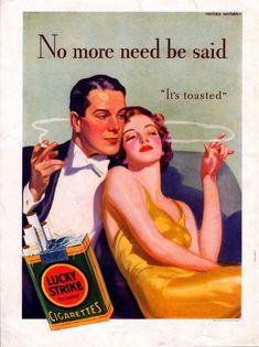 1933 Lucky Strikes ad ---by Hayden Hayden -( Howard C. Renwick )--j383