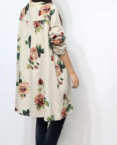 """Oversize floral jacket. I love the """"little old lady florals""""! I'd so wear this as a maternity jacket."""