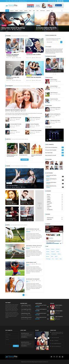 MaterialMag - Material Design Magazine WordPress Theme #blogging #website #webdesign Download: http://themeforest.net/item/materialmag-material-design-magazine-wp-theme/13107166?ref=ksioks
