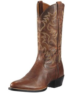 Ariat Heritage Western R- Toe Western Boot - Men's Weathered Chestnut cowboy boots
