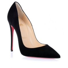 Christian Louboutin So Kate 120 black suede pump ($675) ❤ liked on Polyvore featuring shoes, pumps, black suede shoes, black stilettos, stiletto pumps, high heels stilettos and black pointed-toe pumps