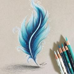 40 Creative And Simple Color Pencil Drawings Ideas Art Pinterest