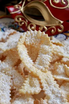 Frappe or Cioffe: Italian Bow Tie Cookies - Italian bow tie cookies cioffe christmas carolers decorations, santa decorations christmas, diy an - Italian Cookie Recipes, Italian Cookies, Italian Desserts, Baking Recipes, Italian Biscuits, Italian Christmas Cookies, Italian Pastries, French Pastries, Italian Cake