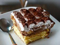 Nutelový zákusok s mascarpone krémom - Mňamky-Recepty. Sweet Desserts, Nutella, Tiramisu, Sweets, Ethnic Recipes, Food, Gardening, Cakes, Basket