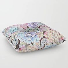 succulent allover Floor Pillow by dalleh Buy Succulents, Cute Gifts, Floor Pillows, Artwork, Stuff To Buy, Accessories, Beautiful Gifts, Work Of Art, Auguste Rodin Artwork