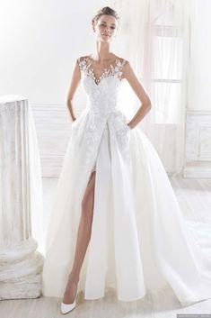 30 vestidos de noiva com racha para as noivas mais ousadas #casamentos #casamentospt #casamento #wedding #weddings #dress #weddingdress