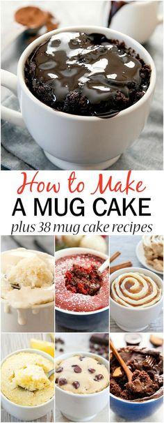Single Serve Cake, Single Serve Desserts, Köstliche Desserts, Delicious Desserts, Single Serving Recipes, Microwave Mug Recipes, Mug Cake Microwave, Easy Microwave Desserts, Easy To Make Desserts