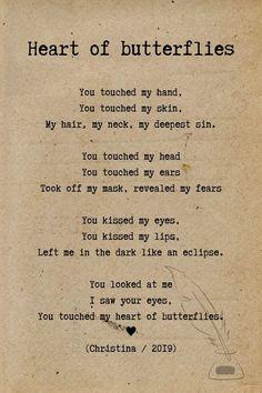 Poem - Heart of butterflies