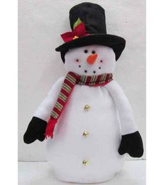 This guy would be a great addition to my snowman collection :) Fabric Standing Snowman Decor : Christmas Decor : holiday & party : Shop | Joann.com