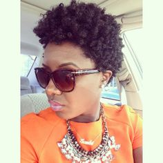 Her curls look great I love natural hair! Twa Hairstyles, Black Hairstyles, Hairdos, Tapered Natural Hair, Au Natural, Natural Women, Curly Hair Styles, Natural Hair Styles, Natural Hair Inspiration