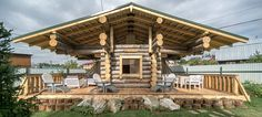 """Log house by """"Daniel, Makar and brothers"""" architectural Studio, Russia"""