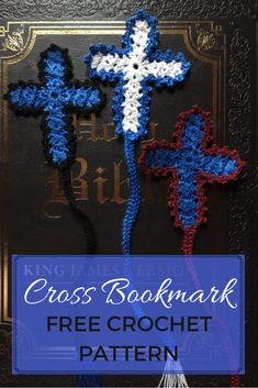 The Cross Bookmark is dainty with a vintage feel, perfect for saving your place in your Bible! The free crochet bookmark pattern works up quickly. Crochet Quilt, Crochet Cross, Crochet Stitches, Free Crochet, Crochet 101, Easy Crochet Bookmarks, Crochet Bookmark Pattern, Crochet Patterns, Crochet Ideas