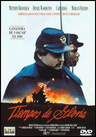 Tiempos de gloria (1989) EEUU. Dir.: Edward Zwick. Bélico. Drama. Racismo. Guerra de Secesión – DVD CINE 1662