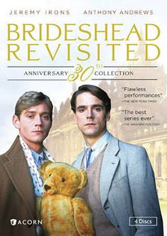 'Brideshead Revisited' (1981) A brilliant  British TV mini series adaptation of Evelyn Waugh's 1945 novel. It follows the unlikely decades long friendship of two Oxford schoolmates from completely different social backgrounds. Their story is both touching and tragic, in a series of flashbacks from Brideshead Castle, the original country home of the aristocratic friend. Anthony Andrews, Jeremy Irons, Sir Laurence Olivier, Sir John Gielgud.