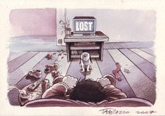 """Lost."" #stefanotamiazzo #illustration #humor #cartoon #lost #tvserie"