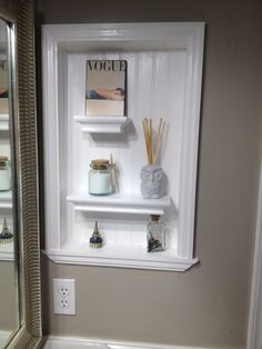 We Turned A Hole In The Wall From An Old Mirrored Medicine Cabinet Into A  Nice