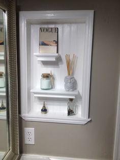 Converted Metal Medicine Cabinet Into Open Shelves I