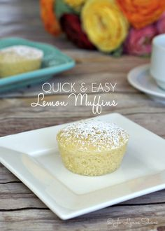 Quick & Easy Lemon Muffin Recipe: these come together in less than 10 minutes and cook for 20. These are the perfect treat to bring to your next brunch!