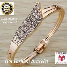 WOW+FREE CHOKER! Hot fashion gold bracelet bangle WOMEN JEWELERY  #MACKJEWELRY