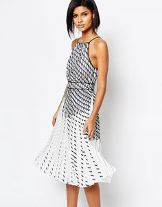 ca5502b449 Whistles Pleated Print Strappy Dress at asos.com