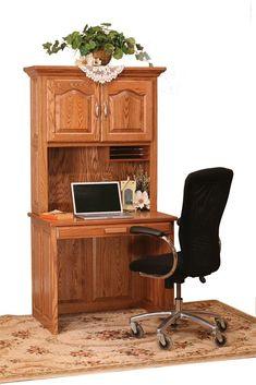 Details About Amish Large Corner Computer Desk Hutch