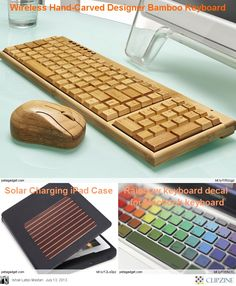 Wooden keyboard mouse for computer gadgets ideas for Cool electronic gadgets to make at home