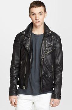 Nordstrom Highlights Mens Leather Jackets image BLK DNM Leather Moto Jacket