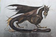 Icefire dragon by Jackie Morris for cover of Fool's Fate by Robin Hobb