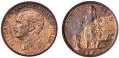 NumisBids: Nomisma Spa Auction 50, Lot 435 : Vittorio Emanuele III (1900-1946) Centesimo 1915 variante cosiddetta...