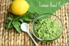 lemon basil pesto - put on fillet of salmon and grill until done - best salmon ever!